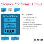 Cadence Introduces Conformal Litmus to Deliver Fastest Path to Full-Chip Constraints and CDC Signoff